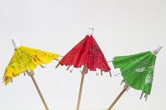 Three paper umbrellas Royalty Free Stock Photo