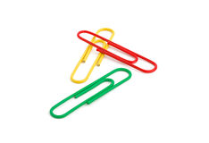 Three paperclips Royalty Free Stock Photos