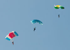 Three parachutes Royalty Free Stock Photos