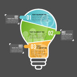 Three Part Bulb Infographic Element Stock Photos