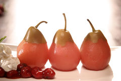 Pears, Cherries & Cream Stock Images