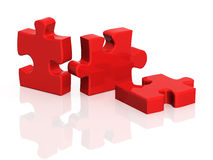 Three parts of a puzzle Royalty Free Stock Image