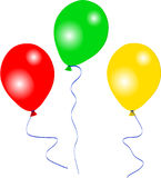 Three party balloons Stock Photography