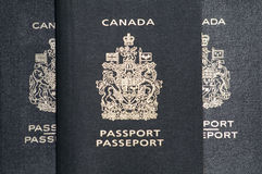 Three passports Stock Photo
