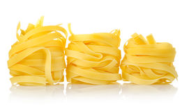 Three pastas tagliatelle Royalty Free Stock Images