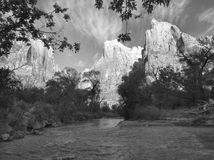 The Three Patriarchs, Zion Stock Photo