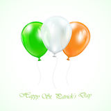 Three Patricks day balloons Stock Photos