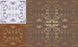Three patterns of ornamental backgrounds Royalty Free Stock Image