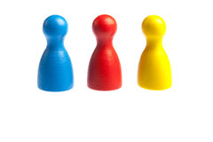 Three pawn game figures Royalty Free Stock Image