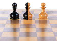 Three pawns. Stock Image