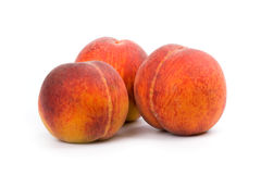 Three peaches Stock Photo