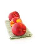 Three peaches Royalty Free Stock Image