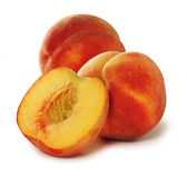 Three peaches royalty free stock images
