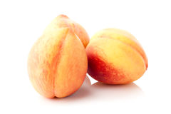 Three peaches Royalty Free Stock Photos