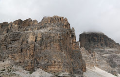 Three peaks, Dolomites Alps, Italy Stock Photos