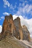 Three peaks, Dolomites Stock Images