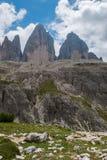 Three Peaks of Lavaredo Royalty Free Stock Photo