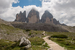 Three Peaks of Lavaredo Royalty Free Stock Photos