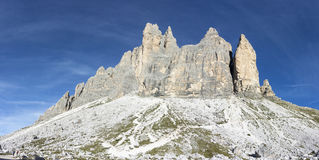 Three peaks of Lavaredo Stock Photos