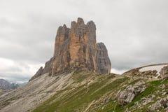 Three Peaks of Lavaredo, Dolomites mountain Royalty Free Stock Photos