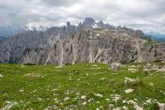 Three Peaks of Lavaredo, Dolomites mountain Stock Photo