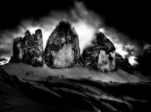 Three peaks of Lavaredo Royalty Free Stock Photos