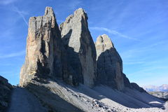 Three peaks of Lavaredo Stock Photography