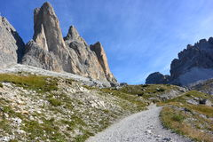 Three peaks of Lavaredo Royalty Free Stock Images