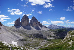 Three peaks of Lavaredo, Dolomites, Italy Royalty Free Stock Photography