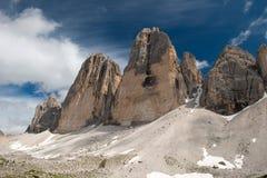 The three peaks of Lavaredo Royalty Free Stock Photo