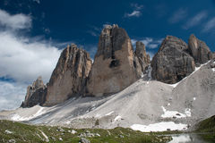 The three peaks of Lavaredo Stock Photo