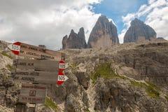 The three peaks of Lavaredo Royalty Free Stock Photos