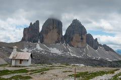 The three peaks of Lavaredo Royalty Free Stock Photography