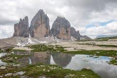 The three peaks of Lavaredo Stock Images
