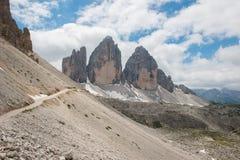 The three peaks of Lavaredo Royalty Free Stock Images