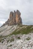 The three peaks of Lavaredo Stock Photography