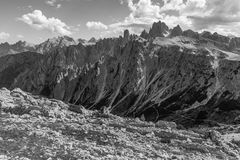 Three peaks Lavaredo Stock Photography