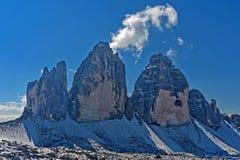 Three Peaks Mountains Stock Photos