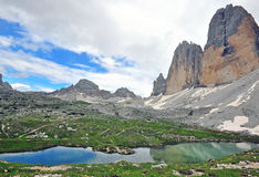 Three peaks national park. Italy Royalty Free Stock Images