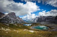Three peaks. National Park Tre Cime di Lavaredo. Dolomites Stock Photography