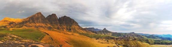 The Three Peaks Panorama Royalty Free Stock Photos