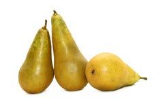 Three pears Stock Photos