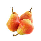 Three pears. On white background Stock Photo