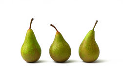 Three pears Stock Photos