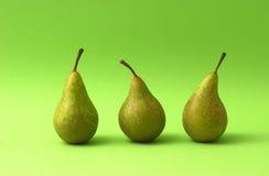 Three Pears Royalty Free Stock Photo