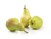 Three Pears. Pears isolated on white background. Clipping path included Stock Image