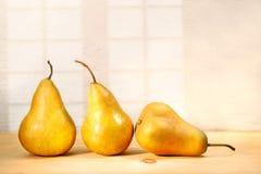 Three pears stock photography