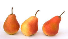 Three pears. Isolated on white background Royalty Free Stock Photo