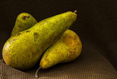Three pears Royalty Free Stock Photos