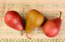 Three Pears Closeup Royalty Free Stock Photos